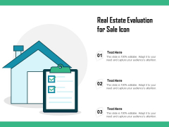 Real Estate Evaluation For Sale Icon Ppt PowerPoint Presentation File Outfit PDF
