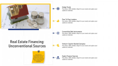 Real Estate Financing Unconventional Sources Ppt Slides Example PDF