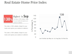 Real Estate Home Price Index Ppt PowerPoint Presentation Example