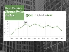 Real Estate Home Price Index Ppt PowerPoint Presentation Portfolio Graphics