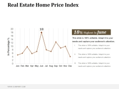 Real Estate Home Price Index Ppt PowerPoint Presentation Samples