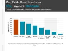 Real Estate Home Price Index Template 1 Ppt PowerPoint Presentation Graphics