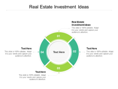Real Estate Investment Ideas Ppt PowerPoint Presentation Styles Design Inspiration Cpb