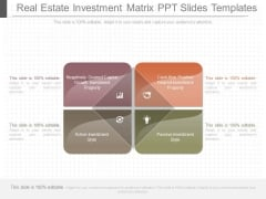Real Estate Investment Matrix Ppt Slides Templates