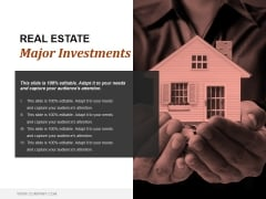 Real Estate Major Investments Ppt PowerPoint Presentation Visual Aids