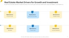 Real Estate Market Drivers For Growth And Investment Summary PDF