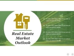Real Estate Market Outlook Ppt PowerPoint Presentation Styles Background