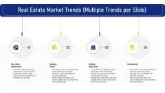 Real Estate Market Trends Multiple Trends Per Slide Ppt Portfolio Outfit PDF