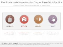 Real Estate Marketing Automation Diagram Powerpoint Graphics
