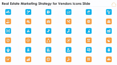 Real Estate Marketing Strategy For Vendors Icons Slide Ppt Portfolio Topics PDF