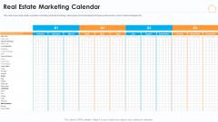 Real Estate Marketing Strategy Vendors Real Estate Marketing Calendar Demonstration PDF