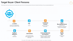 Real Estate Marketing Strategy Vendors Target Buyer Client Persona Elements PDF