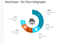 Real Estate Pie Chart Infographic Ppt PowerPoint Presentation Designs Download