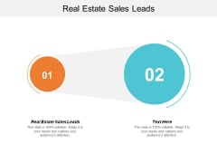Real Estate Sales Leads Ppt PowerPoint Presentation Styles Good Cpb