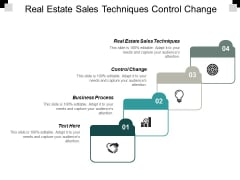 Real Estate Sales Techniques Control Change Business Process Ppt PowerPoint Presentation Styles Skills