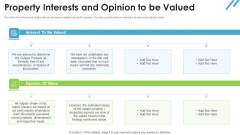 Real Estate Valuation Approaches For Property Shareholders Property Interests And Opinion To Be Valued Assumed Rules PDF