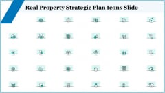Real Property Strategic Plan Icons Slide Ppt Summary Graphics PDF