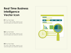 Real Time Business Intelligence Vector Icon Ppt PowerPoint Presentation Gallery Graphics Template PDF
