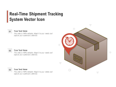 Real Time Shipment Tracking System Vector Icon Ppt PowerPoint Presentation File Layout PDF