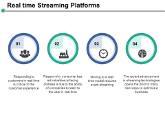 Real Time Streaming Platforms Ppt PowerPoint Presentation Layouts Guide