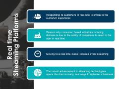 Real Time Streaming Platforms Ppt PowerPoint Presentation Portfolio Format Ideas