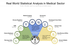 Real World Statistical Analysis In Medical Sector Ppt PowerPoint Presentation File Backgrounds PDF