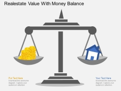 Realestate Value With Money Balance Powerpoint Template
