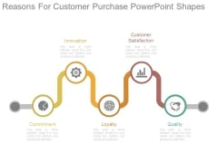 Reasons For Customer Purchase Powerpoint Shapes