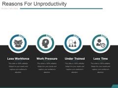 Reasons For Unproductivity Ppt PowerPoint Presentation Ideas