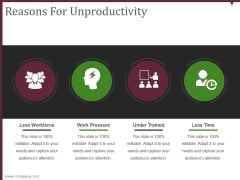 Reasons For Unproductivity Ppt PowerPoint Presentation Images