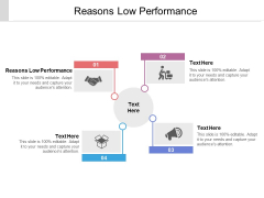 Reasons Low Performance Ppt PowerPoint Presentation Outline Topics Cpb Pdf
