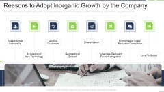 Reasons To Adopt Inorganic Growth By The Company Ideas PDF