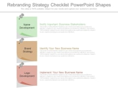 Rebranding Strategy Checklist Powerpoint Shapes