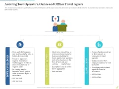 Rebuilding Travel Industry After COVID 19 Assisting Tour Operators Online And Offline Travel Agents Information PDF