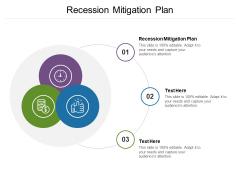 Recession Mitigation Plan Ppt PowerPoint Presentation Gallery Designs Cpb