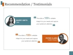 Recommendation Testimonials Ppt PowerPoint Presentation Themes
