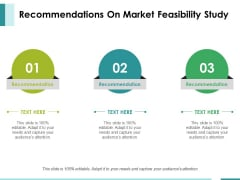 Recommendations On Market Feasibility Study Ppt PowerPoint Presentation Ideas Display
