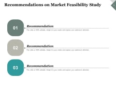 Recommendations On Market Feasibility Study Ppt PowerPoint Presentation Portfolio Graphics