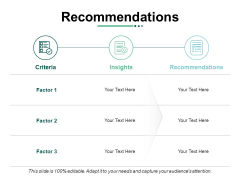 Recommendations Ppt PowerPoint Presentation Outline Deck