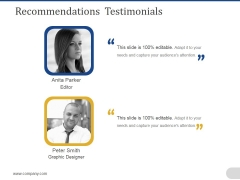 Recommendations Testimonials Ppt PowerPoint Presentation Model Graphics Download