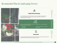 Recommended Plan For Landscaping Services Ppt PowerPoint Presentation Show Graphics Template