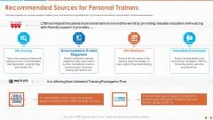 Recommended Sources For Personal Trainers Professional PDF