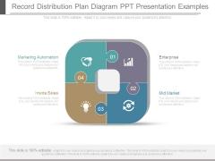 Record Distribution Plan Diagram Ppt Presentation Examples