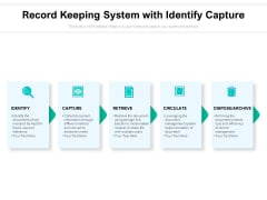 record keeping system with identify capture ppt powerpoint presentation icon templates