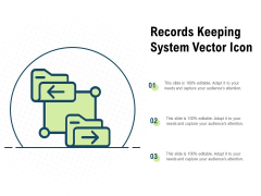 records keeping system vector icon ppt powerpoint presentation model introduction