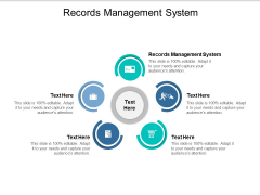 Records Management System Ppt PowerPoint Presentation File Layout Ideas Cpb