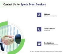 Recreational Program Proposal Contact Us For Sports Event Services Ppt File Background PDF