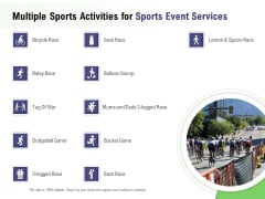 Recreational Program Proposal Multiple Sports Activities For Sports Event Services Ppt Pictures Graphics Tutorials PDF