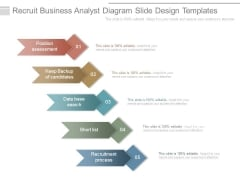 Recruit Business Analyst Diagram Slide Design Templates