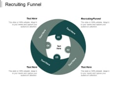 Recruiting Funnel Ppt PowerPoint Presentation Infographic Template Background Images Cpb